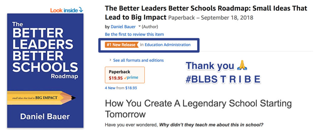 The BLBS Roadmap was a hot new release on Amazon