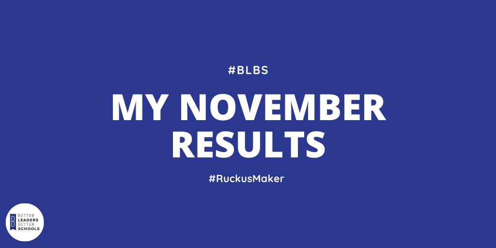My November 2019 Results