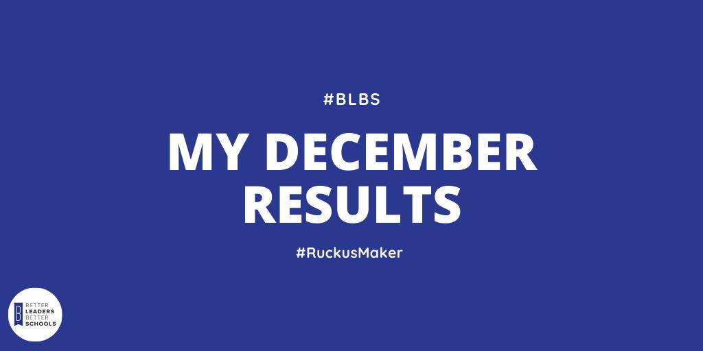 My December 2019 Results