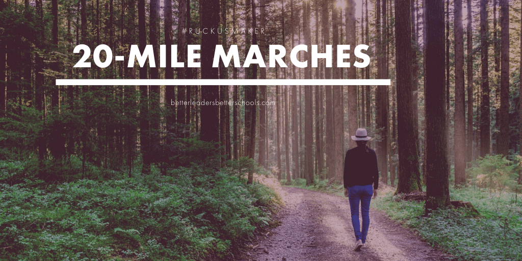 20-mile marches