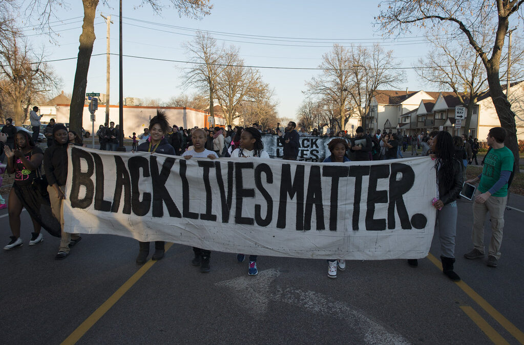 students protesting racism in minneapolis