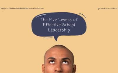 Is your school leadership style getting you poor results? Use the 5 levers of school leadership most principals don't realize are available